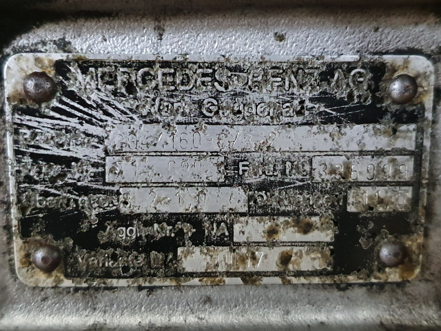 Cutie de viteza Mercedes Benz GO4/160- 6 /8,2   l   8,2-1,0