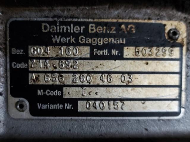 Cutie de viteza Mercedes Benz GO4 160, 714.692