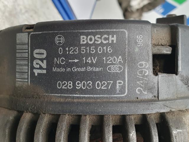 Alternator Bosch 0 123 515 016, Volkswagen LT 35, Euro 3, 80 KW,  2.5 TDI, 1999