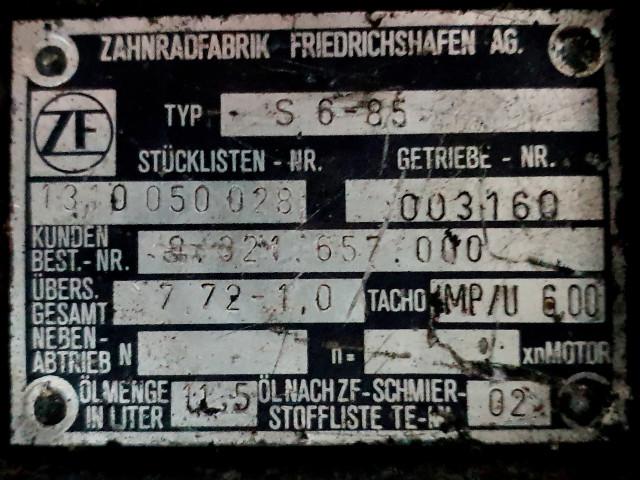 Cutie de viteza ZF S 6 85, Stücklisten Nr. 1310 050 028  / 7,72-1,0