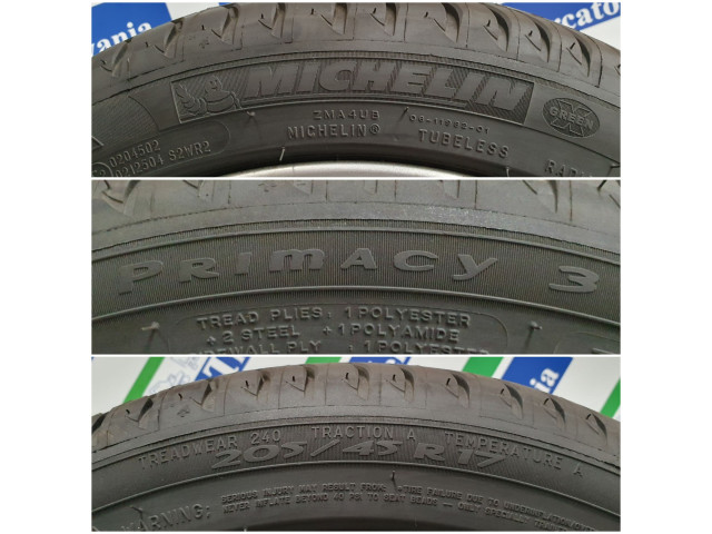 Michelin Primacy 3, 205/45 R17, 86W