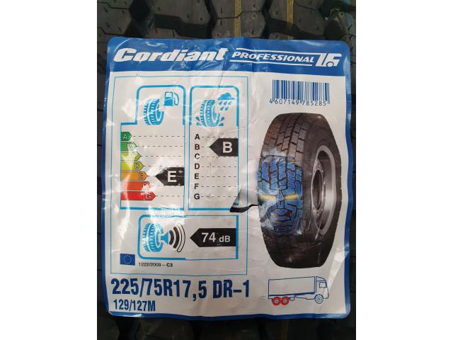 Cordiant Professional DR-1, 225/75 R17.5, 129/127 M