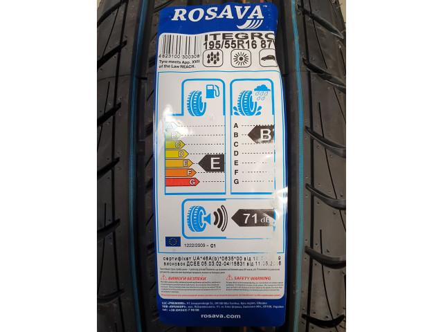 Rosava Itegro, 195/55 R16, 87 V