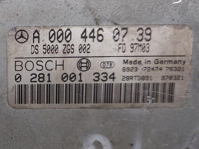 Calculator Motor Bosch A 000 446 07 39, 0 281 001 334, Euro 2, 184 KW, 11967 cm3