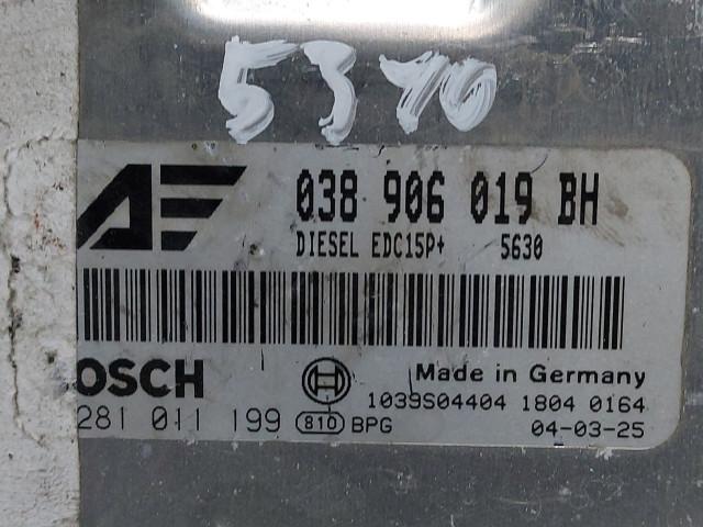 Calculator Motor Bosch 038 906 019 BH, Euro 3, 96 KW, 1.9 TDI