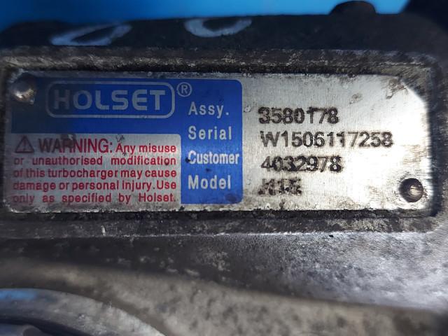 Turbosuflanta Holset 3580178, W15060117258, Euro 2, 280 KW, 14618 cm3
