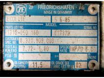 Cutie de viteza ZF Ecolite S 6 85, Parts NO. 1310 050 160  /  7,72-1,00