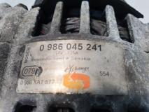 Alternator Bosch 0 986 045 241, Opel Vivaro, Euro 4, 74 KW, 1.9 DTI, 2006