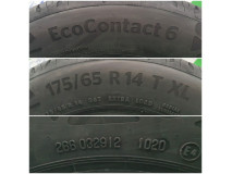 Continental, EcoContact 6, 175/65 R14, 86T XL