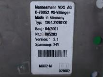 Calculator MUX Mannesmann VDO, Tyo: 1364.21010101, Version: 2.1, 24V, MUX2-M, Euro 2, 228 KW, 11967 cm3