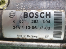 Electromotor Bosch 0 001 263 004 24V, Euro 5, 231 KW, 9186 cm3