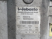 Compresor Clima Webasto D0836LOH50, Euro 4, 206 KW, 6871 cm3