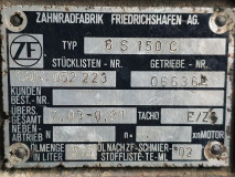 Cutie de viteza ZF 6 S 150 C, Stücklisten Nr. 1304 052 223 /  7,03-0,81